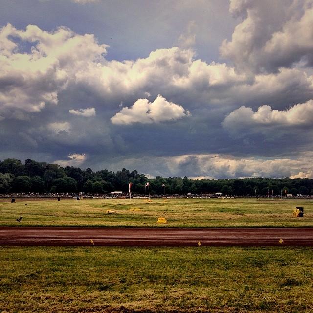 Auch dieses Jahr wieder Wetter. #Herxheim #Sandbahnrennen