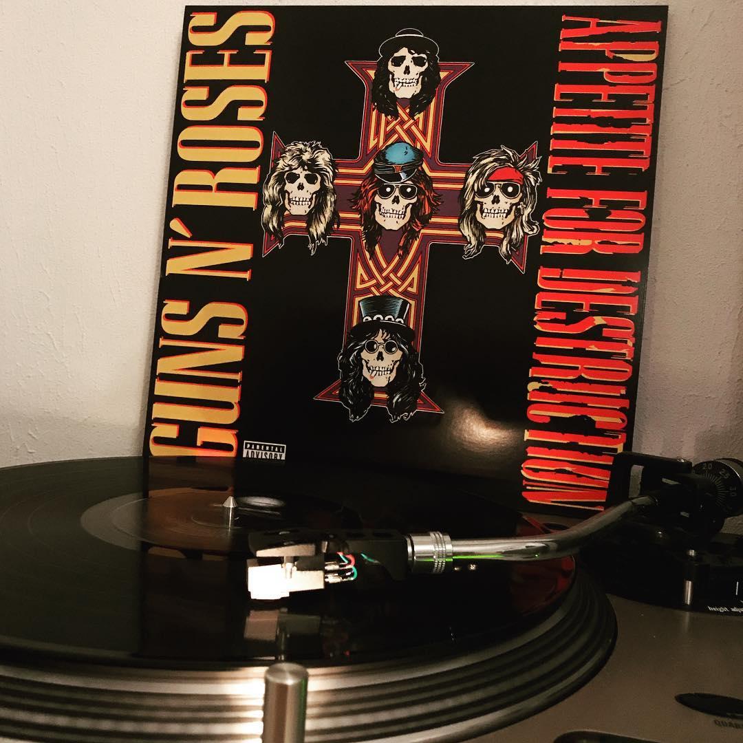Appetite For Destruction #GunsNRoses #Vinyl #NowSpinning #OnMyTurntable #HardRock #AxlRose #Slash #StevenAdler #DuffMcKagan #IzzyStradlin #Reissue #2015