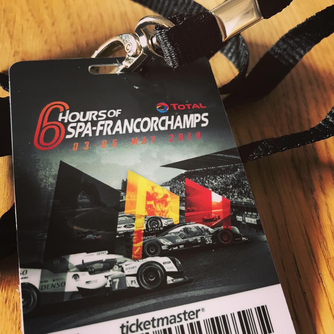 Finally my ticket for the #6hSpaFrancorchamps arrived! #WECSuperSeason @fiawec_official @porsche /cc @mace2000