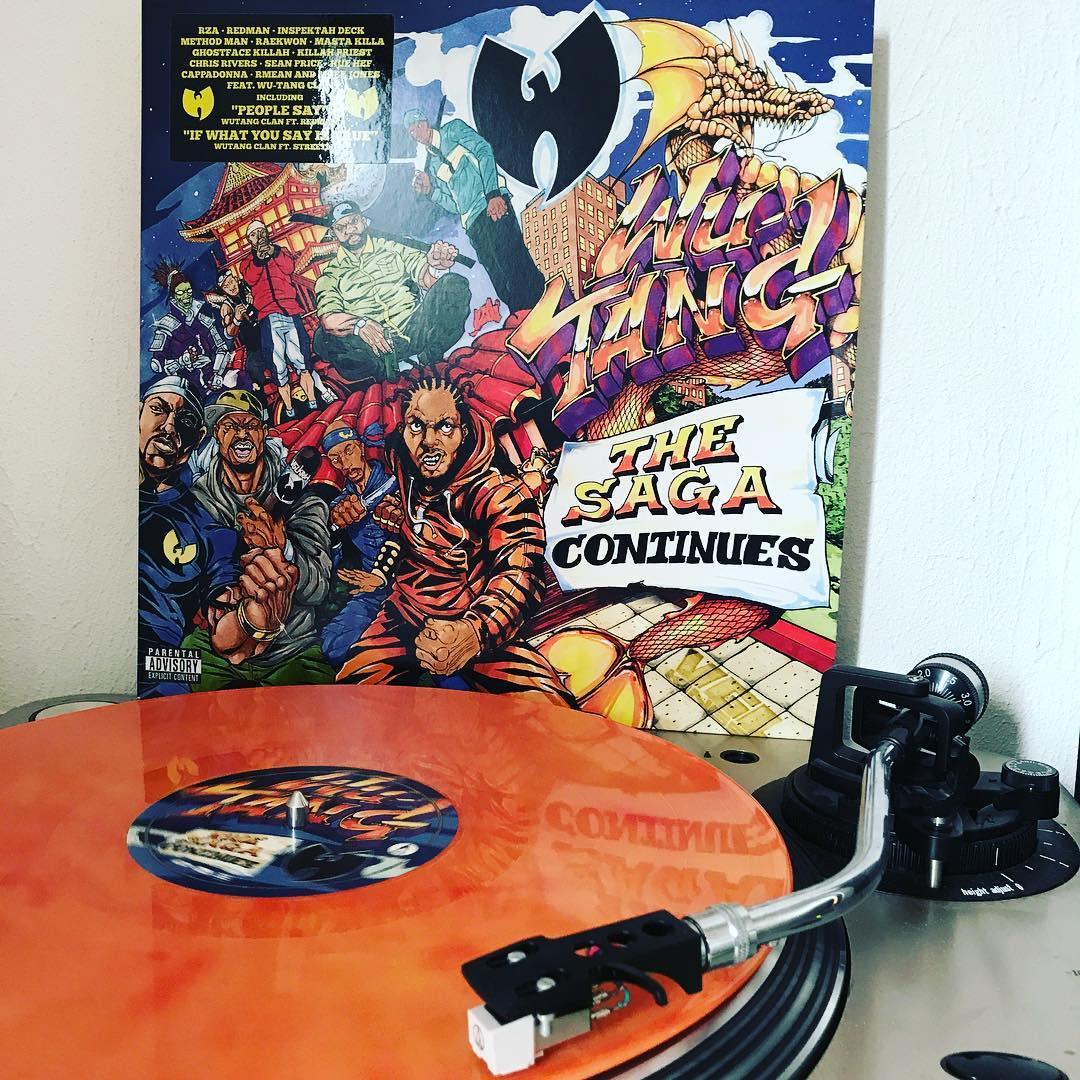 The Saga Continues #WuTangClan #Vinyl #ColoredVinyl #ILoveDiscogs #OnMyTurntable #HipHop #Vinylgram