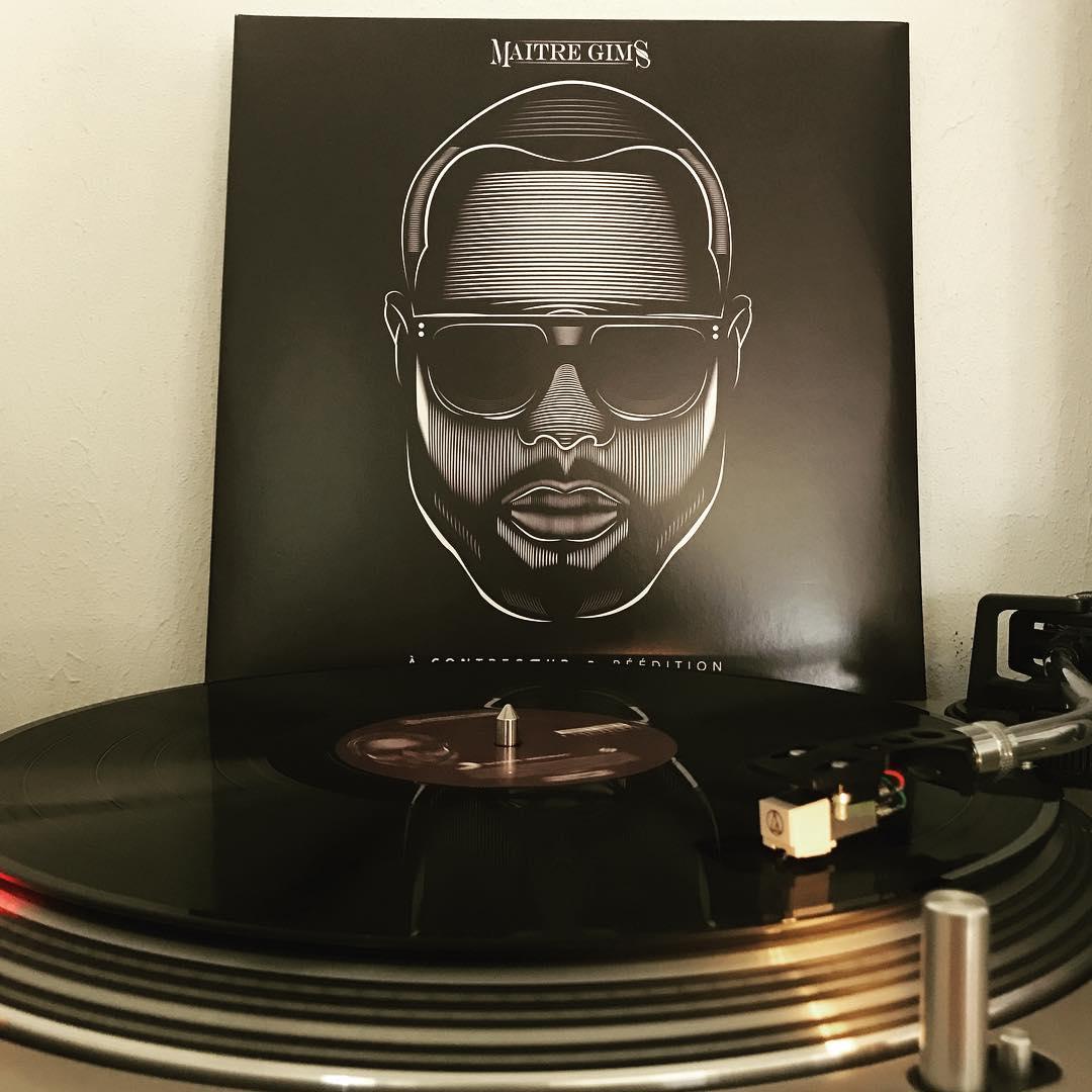 À contrecœr • Réédition #MaîtreGims #Vinyl #Vinylgram #OnMyTurntable #HipHop #Pop #NowSpinning #33rpm