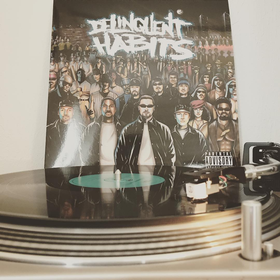 Delinquent Habits #DeliquentHabits #Vinyl #NowSpinning #OnMyTurntable #Vinylgram #33rpm #HipHop