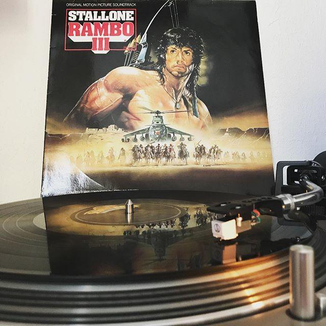 Rambo III #Soundtrack #Score #NowSpinning #OnMyTurntable #33rpm #1988 #OriginalMotionPictureSoundtrack