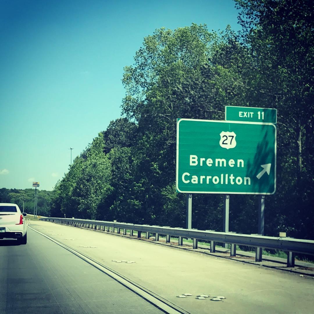 Service: Bremen liegt 60km westlich von Altanta. #ServiceGram #Bremen #Atlanta