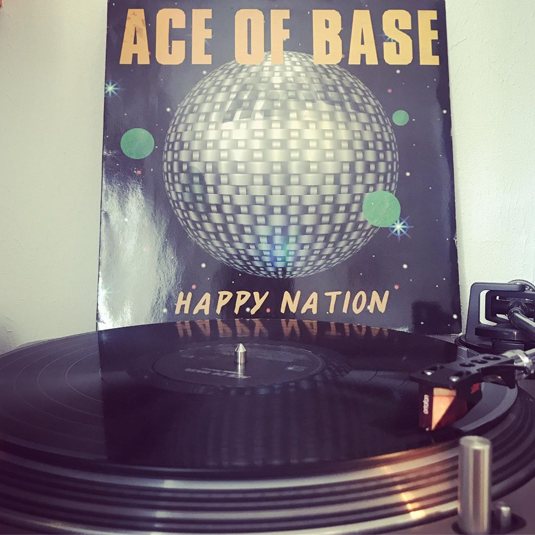 Happy Nation #AceOfBase #OnMyTurntable #NowSpinning #33rpm #Pop #Vinylgram #Schweden