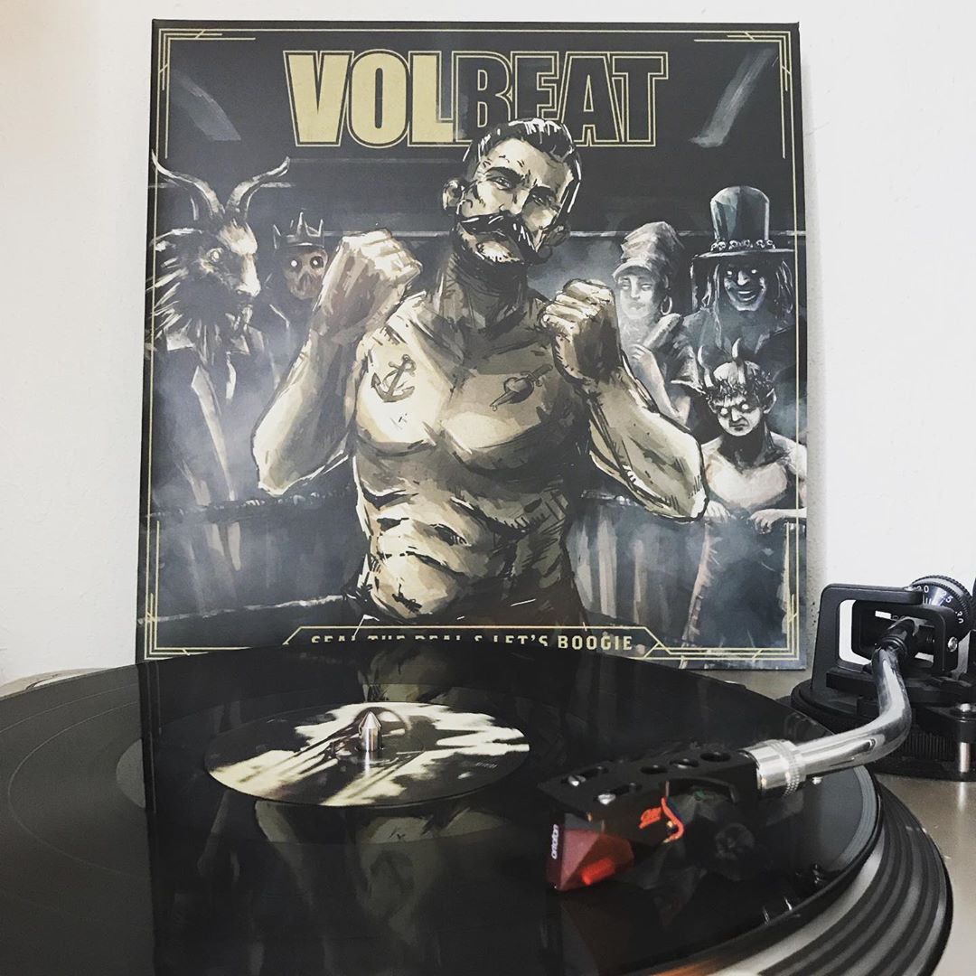 Seal the deal & let's get boogie #Volbeat #OnMyTurntable #NowSpinning #Vinylgram #Rock #RockNRoll