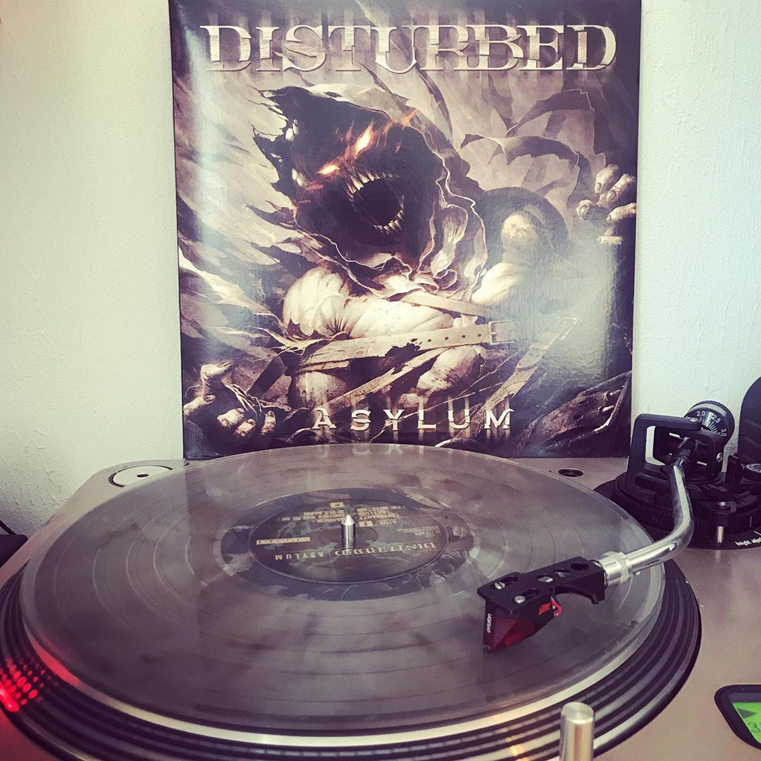 Asylum #Disturbed #HardRock #Rock #NowSpinning #OnMyTurntable #Vinylgram #33rpm #ColoredWax #LimitedEdition #ColoredVinyl