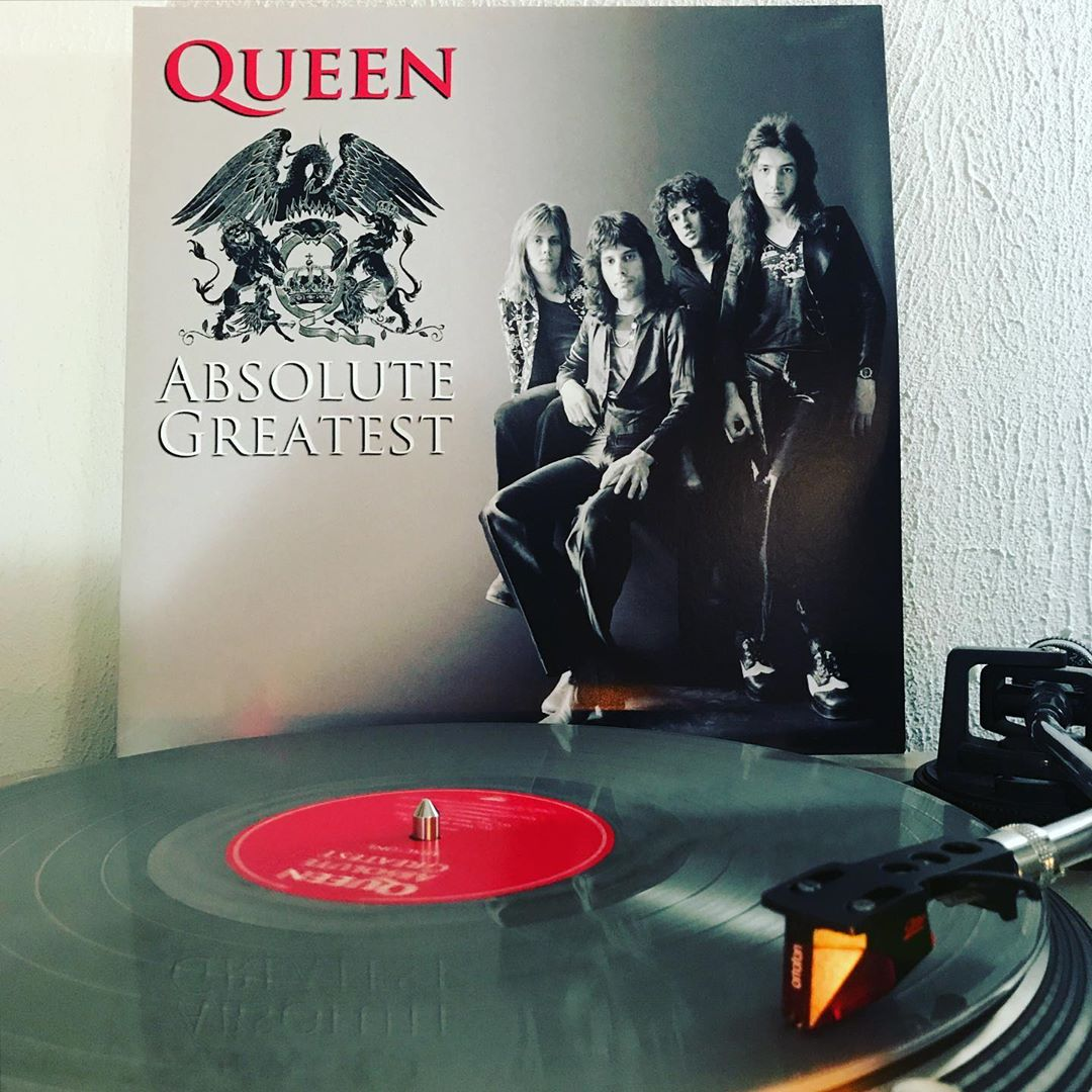 Absolut Greatest #Queen #OnMyTurntable #NowSpinning #33rpm #FreddyMercury #VinylGram #ColoredWax #LimitedEdition #ColoredVinyl