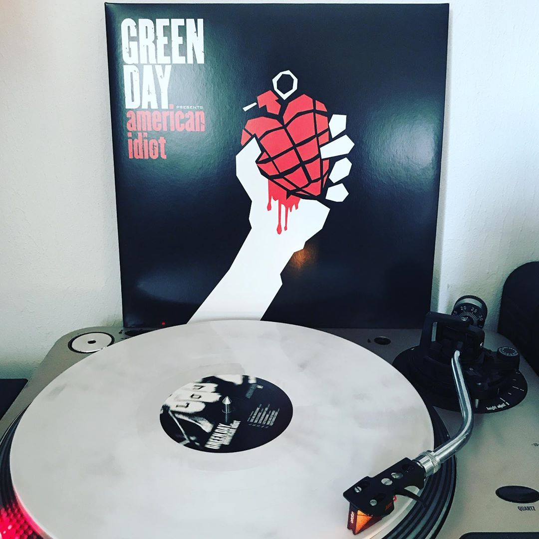 American Idiot #GreenDay #OnMyTurntable #NowSpinning #PunkRock #33rpm #Vinylgram #ColoredVinyl
